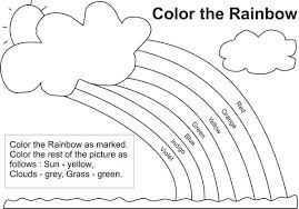 Rainbow Coloring Pages Printable Rainbow Coloring Different Types Of