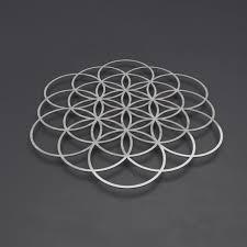 flower of life sacred geometry metal