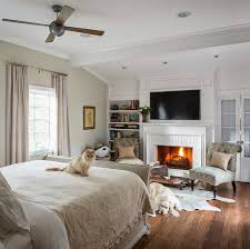 master bedroom with fireplace home