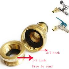 3 4 inch garden hose. 3/4 Inch Brass Threaded Garden Hose Water Gun Tap Fittings Pipe Quick Connector 3 4