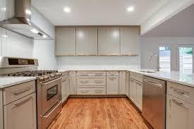 modern white subway tile kitchen images