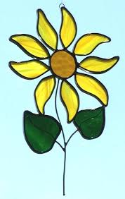stained glass flower small sun flower sun catcher description this leaded stained glass stained glass flower stained glass flower
