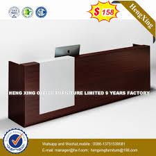 Wood Office Counter Design Hot Item Wooden Furniture Modern Design Plywood Counter Reception Desk
