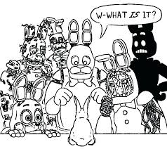 Coloring Pages For Sister Location Fnaf Mangle Betterfor