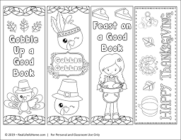 Just print the pdf and cut out the bookmarks. Free Printable Thanksgiving Bookmarks To Color For Kids