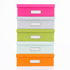 Bigso Orange Stockholm Office Storage Boxes