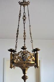 gothic style table lamps lovely 18th century gothic style gilt bronze church candle chandelier of gothic
