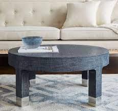 dakota round coffee table navy in 2