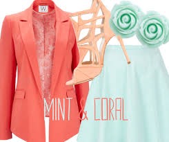 Mint and coral Color Scheme Mint Trend Coral Trend Spring Summer 2013 So Chic Mint Coral Trend Spring Summer 2013 Fashion Style Beauty So Chic