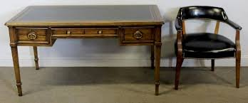 vintage leather top writing desk and