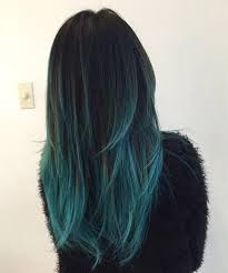 Subtle Blue Highlights 54141 Subtle Blue Highlights In Brunette Hair Color Achieved By