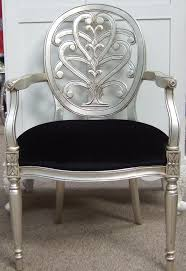 black and silver furniture. silver furniture antique leaf chairs black and