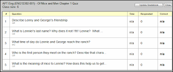 Teacher Gradebook Online Review Scores For Online Quizzes