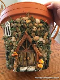 potted fairy cottage craft ideas
