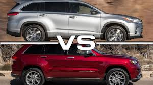 2017 Toyota Highlander vs 2016 Jeep Grand Cherokee - YouTube