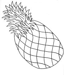 pineapple drawing. simple pineapple drawing