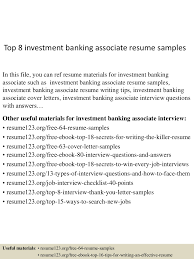 Investment Banking Resume Sample Top10000investmentbankingassociateresumesamples10000lva100app61000092thumbnail100jpgcb=100100310071003657 46