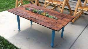 outdoor coffee table with center
