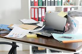tidy office. Untidy And Cluttered Desk Tidy Office E