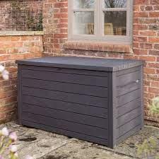 plastic storage box brown keter l