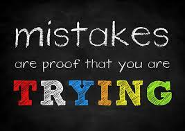 Don't Be Discouraged by Mistakes: Learn from Them - Paper Napkin Wisdom Learn from Mistakes