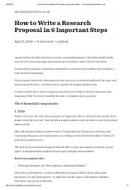 How To Develop A Research Proposal How to write a research proposal in 100 important steps wwwquickessa 2