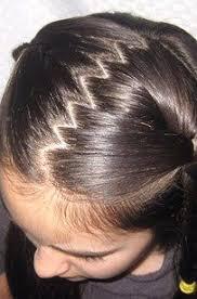 Resultado de imagen para peinados en zig zag para niñas