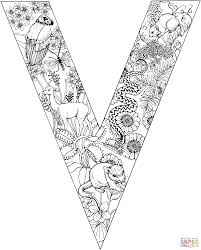 letter v alphabet coloring pages for kids to learning easy print