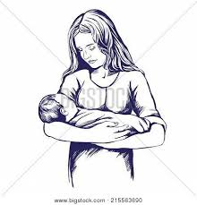 Mother Holding Baby Vector Photo Free Trial Bigstock