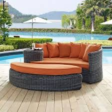 outdoor patio daybed. Modway Summon Outdoor Patio Daybed With Sunbrella BRAND Tuscan Orange Canvas CUS | EBay