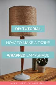 lighting diy. A Fall-Inspired Jute Twine Wrapped DIY Lampshade Lighting Diy
