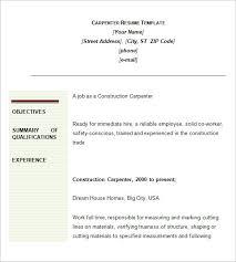 Download Carpenter Resume Objective Ajrhinestonejewelry Com