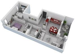 Awesome D Floor Plans For Small Or Medium House - Small apartment floor plans 3d