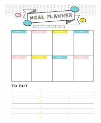 Printable Weekly Dinner Menu Daily Dinner Menu Planner Printable Meal Weekly Food