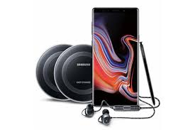 amazon offers samsung galaxy note 9 bundle with 2 wireless charger pads akg200 earbuds