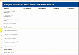 Survey Results Excel Template And Petitor Analysis Template Excel
