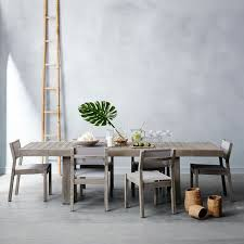 west elm patio furniture. Plain Furniture Portside Dining Table Set 58 Weathered Gray West Elm Regarding Brilliant  Household Patio Furniture Decor And I