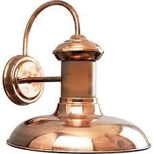 copper lighting fixtures. Progress Lighting Brookside Collection 1-Light Solid Copper LED Outdoor Wall Lantern Fixtures