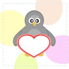 cute penguins in love. Simple Love Cute Penguins Holding Love Heart Card Stock Vector  11010339 Intended Penguins In Love W
