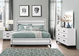 Kate White Dresser Mirror Queen Bed | Kate Wh | Bedroom Sets | Price ...