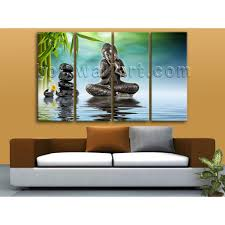 Painting For Living Room Wall Oversized Buddha Feng Shui Wall Art Painting Living Room 4 Panels