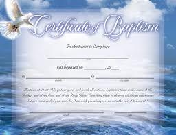 Baptism Certificate Baptism Certificates Free Certificate Of Baptism Certificates