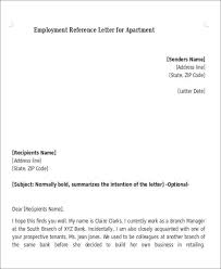 Letter Of Recommendation Tenant 5 Sample Reference Letters For Apartment Sample Templates