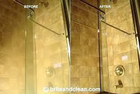 fine how to get hard water stains off glass shower doors how to clean hard water