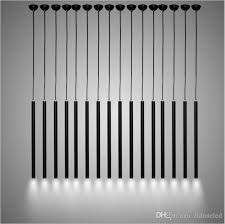 modern black led pendant lights pipe pendant lighting creative aluminum hanging light restaurant lights bar office engineering lighting cool pendant lights