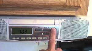 under kitchen cabinet radio cd player installed sony the amfm icfcdk clock manual icf instructions cdk