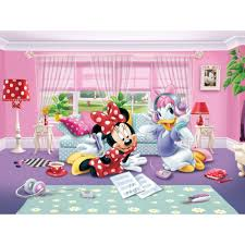 Minnie Mouse Wallpaper For Bedroom Disney Minnie Daisy Wallpaper Xxl Great Kidsbedrooms The