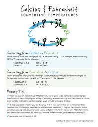 C Vs F Chart Conversion Chart For Celcius Body Temperature Conversion