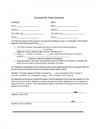 Painting Contract Forms Free Cheapscplays Com