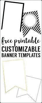 diy happy birthday banner printable template save